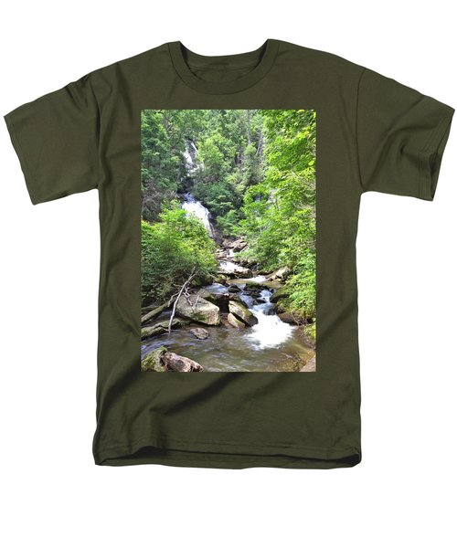 Smith Creek Downstream Of Anna Ruby Falls - 3 Men's T-Shirt  (Regular Fit) by Gordon Elwell