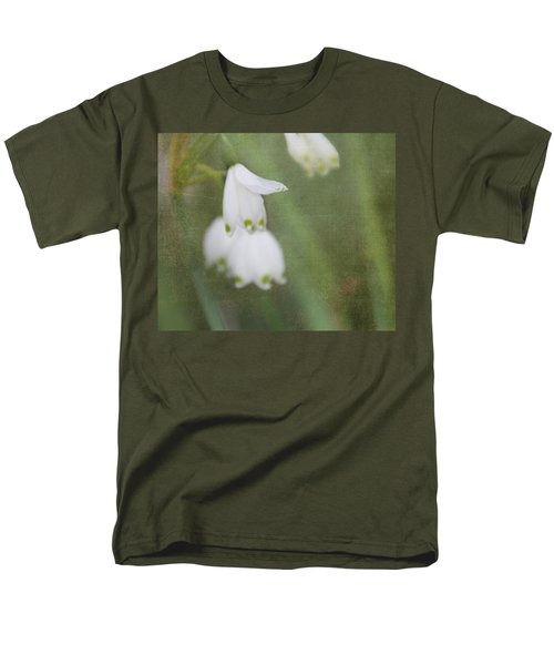 Men's T-Shirt  (Regular Fit) featuring the photograph Snowdrops by Katie Wing Vigil