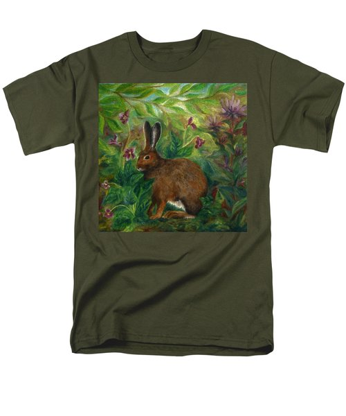 Snowshoe Hare Men's T-Shirt  (Regular Fit) by FT McKinstry