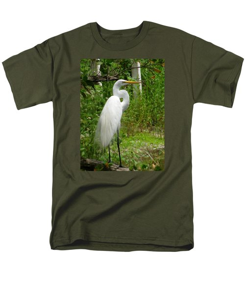 Snowy Egret Men's T-Shirt  (Regular Fit) by Melinda Saminski