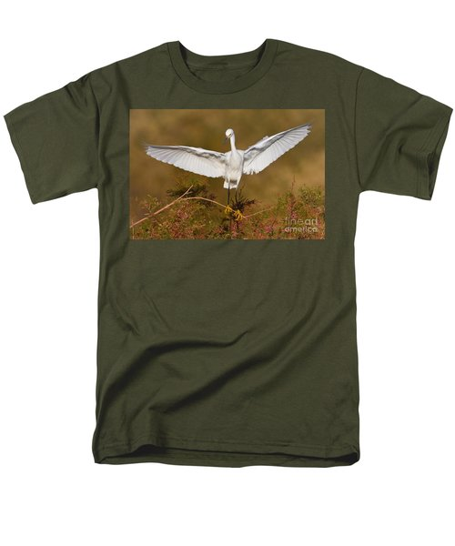 Men's T-Shirt  (Regular Fit) featuring the photograph Snowy Wingspread by Bryan Keil