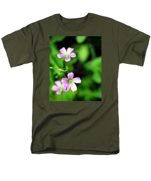 So Delicate In Purple. Texas Spring Perennial Men's T-Shirt  (Regular Fit) by Connie Fox