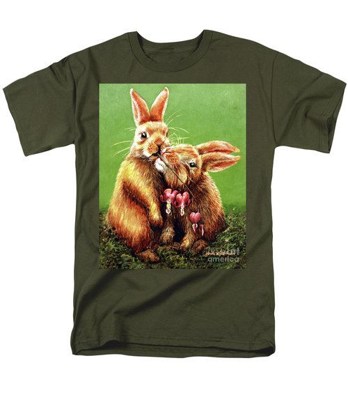 Some Bunny Loves You Men's T-Shirt  (Regular Fit) by Linda Simon