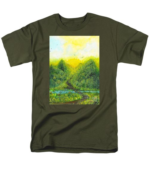 Men's T-Shirt  (Regular Fit) featuring the painting Sonsoshone by Holly Carmichael