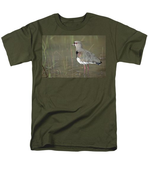 Southern Lapwing In Marshland Pantanal Men's T-Shirt  (Regular Fit) by Tui De Roy