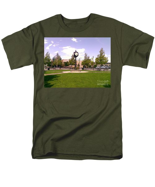 Men's T-Shirt  (Regular Fit) featuring the photograph Sparks Community Clock by Bobbee Rickard