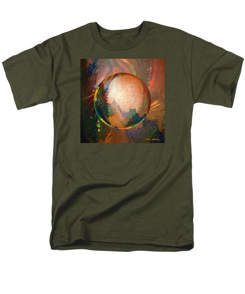 Men's T-Shirt  (Regular Fit) featuring the digital art Sphering Lunar Vibrations by Robin Moline