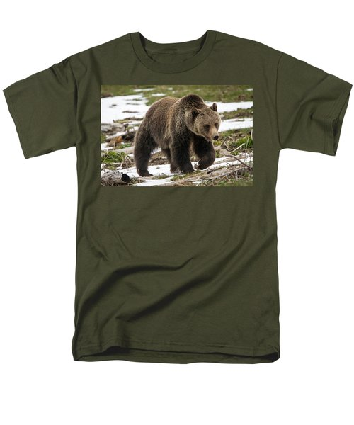 Men's T-Shirt  (Regular Fit) featuring the photograph Spring Grizzly Bear by Jack Bell