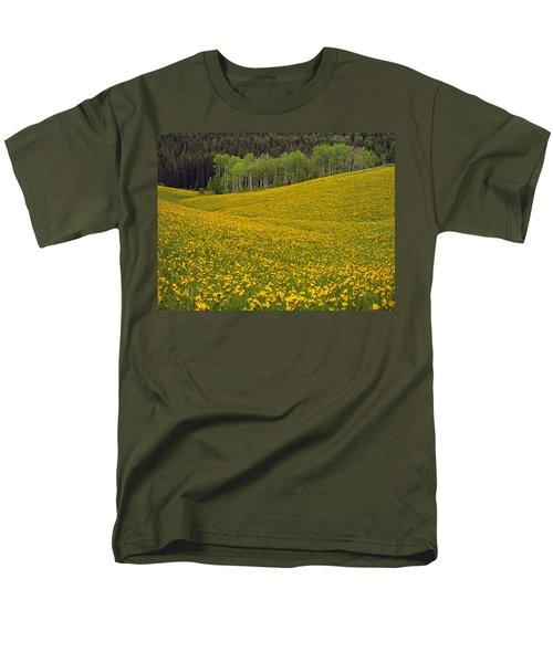 Spring Meadow Men's T-Shirt  (Regular Fit) by Leland D Howard