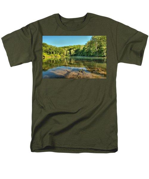 Spring Mill Lake Men's T-Shirt  (Regular Fit) by Adam Jewell