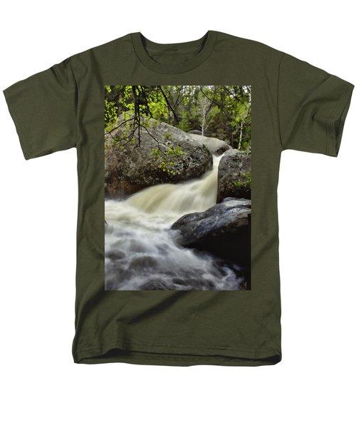 Men's T-Shirt  (Regular Fit) featuring the photograph Spring Runoff by Ellen Heaverlo