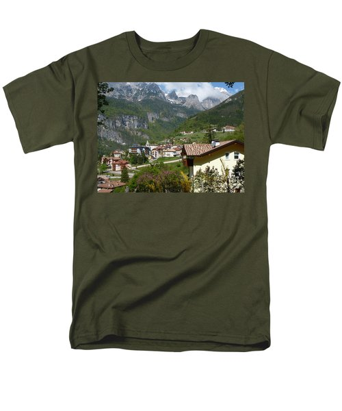 Men's T-Shirt  (Regular Fit) featuring the photograph Springtime In Molveno - Italy by Phil Banks