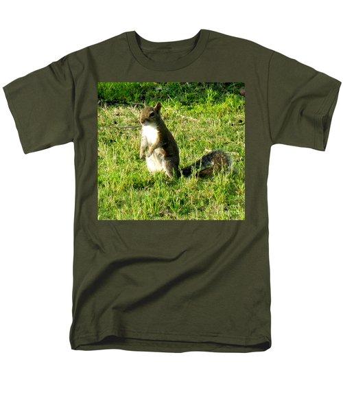 Men's T-Shirt  (Regular Fit) featuring the photograph Squirrel by Oksana Semenchenko