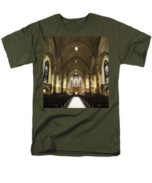 Men's T-Shirt  (Regular Fit) featuring the photograph St Mary's Catholic Church by Lynn Geoffroy
