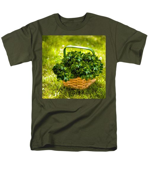 St Patricks Day Men's T-Shirt  (Regular Fit) by Bob and Nadine Johnston