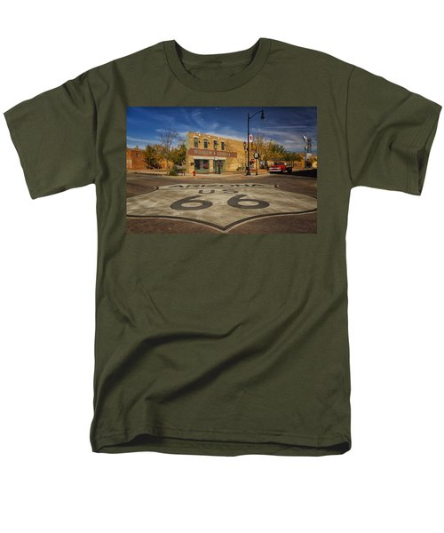 Standing On The Corner In Winslow Arizona Dsc08854 Men's T-Shirt  (Regular Fit) by Greg Kluempers