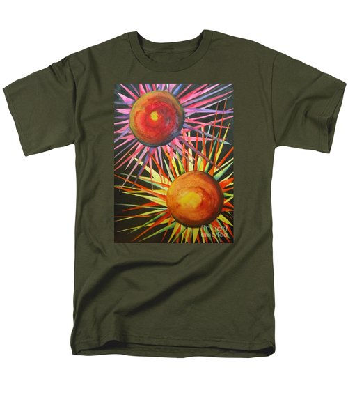 Men's T-Shirt  (Regular Fit) featuring the painting Stars With Colors by Chrisann Ellis