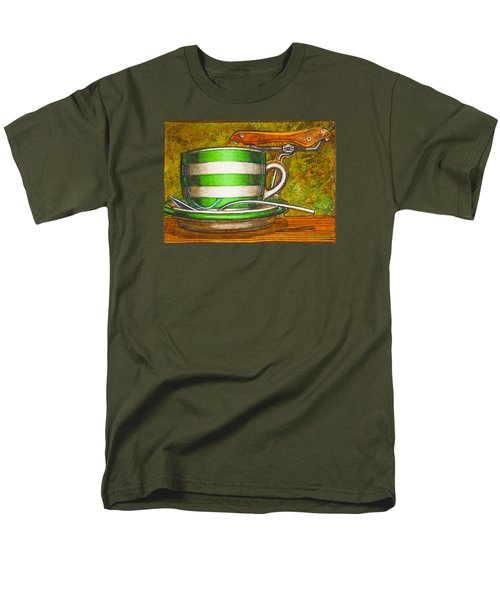 Still Life With Green Stripes And Saddle  Men's T-Shirt  (Regular Fit) by Mark Jones