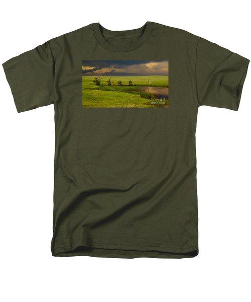 Storm Crossing Prairie 1 Men's T-Shirt  (Regular Fit) by Robert Frederick