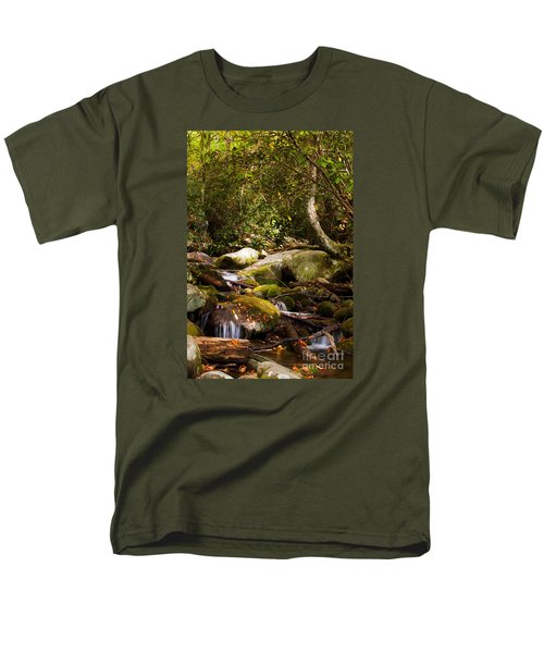 Stream At Roaring Fork Men's T-Shirt  (Regular Fit) by Lena Auxier