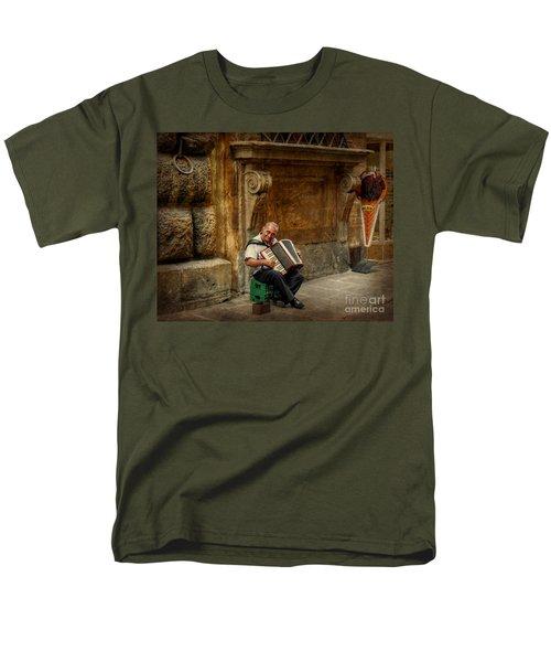 Street  Music Men's T-Shirt  (Regular Fit) by Valerie Reeves