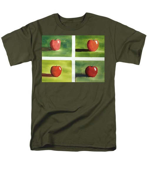 Men's T-Shirt  (Regular Fit) featuring the painting Study Red And Green by Richard Faulkner