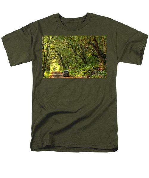 Subaru In The Rainforest Men's T-Shirt  (Regular Fit) by Adam Jewell