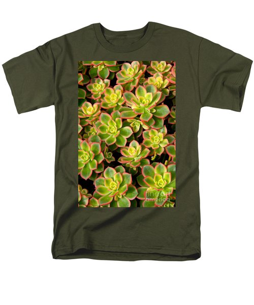 Succulent Glow Men's T-Shirt  (Regular Fit) by Suzanne Oesterling