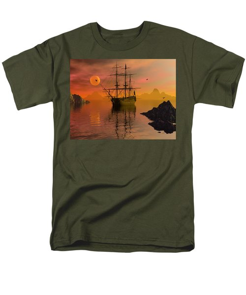 Men's T-Shirt  (Regular Fit) featuring the digital art Summer Anchorage by Claude McCoy