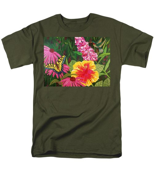 Summer Garden Men's T-Shirt  (Regular Fit) by Ellen Levinson