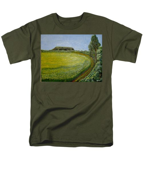 Summer In Canola Field Men's T-Shirt  (Regular Fit) by Felicia Tica