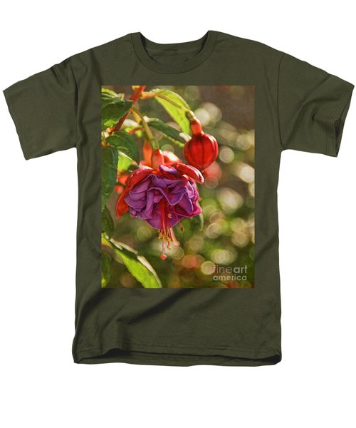 Men's T-Shirt  (Regular Fit) featuring the photograph Summer Jewels by Peggy Hughes