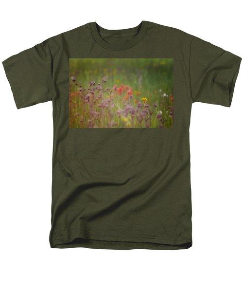 Men's T-Shirt  (Regular Fit) featuring the photograph Summer Meadow by Ellen Heaverlo