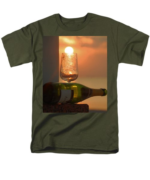 Men's T-Shirt  (Regular Fit) featuring the photograph Sun In Glass by Leticia Latocki
