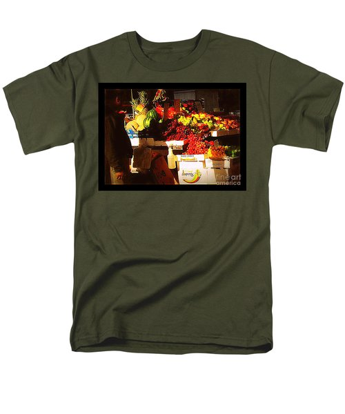 Men's T-Shirt  (Regular Fit) featuring the photograph Sun On Fruit by Miriam Danar