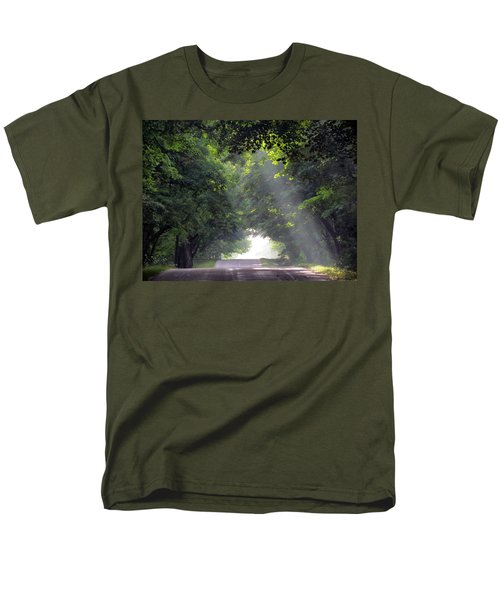 Sun Rays On Waters End Road Men's T-Shirt  (Regular Fit) by David T Wilkinson