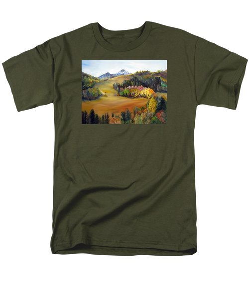 Sundance And Mt. Timpanogos Men's T-Shirt  (Regular Fit) by LaVonne Hand