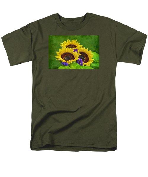 Sunflower Trio Men's T-Shirt  (Regular Fit) by Sandi OReilly
