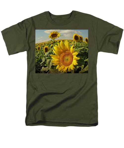Kansas Sunflowers Men's T-Shirt  (Regular Fit) by Chris Berry