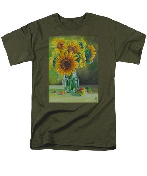 Sunflowers In Glass Jug Men's T-Shirt  (Regular Fit) by Nina Mitkova