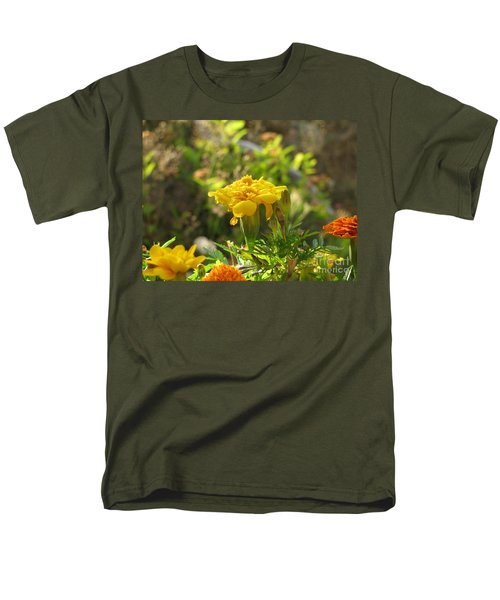 Sunny Marigold Men's T-Shirt  (Regular Fit) by Leone Lund