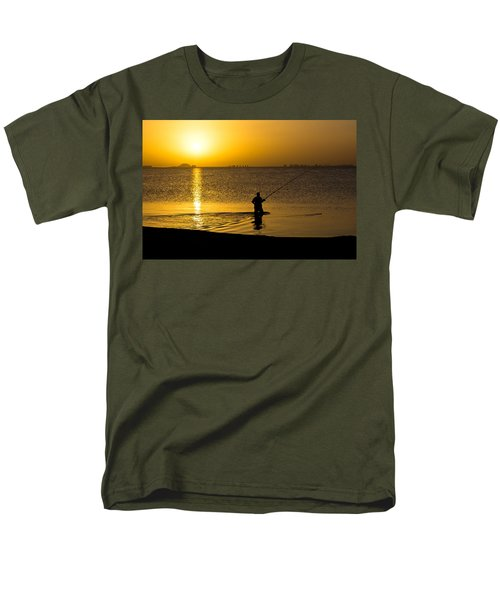 Sunrise Fishing Men's T-Shirt  (Regular Fit) by Scott Carruthers