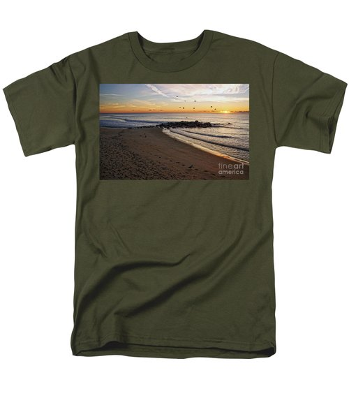 Men's T-Shirt  (Regular Fit) featuring the photograph Sunrise In Ocean Grove by Debra Fedchin