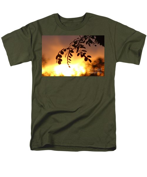 Sunset And Leaves Men's T-Shirt  (Regular Fit) by Justin Moore