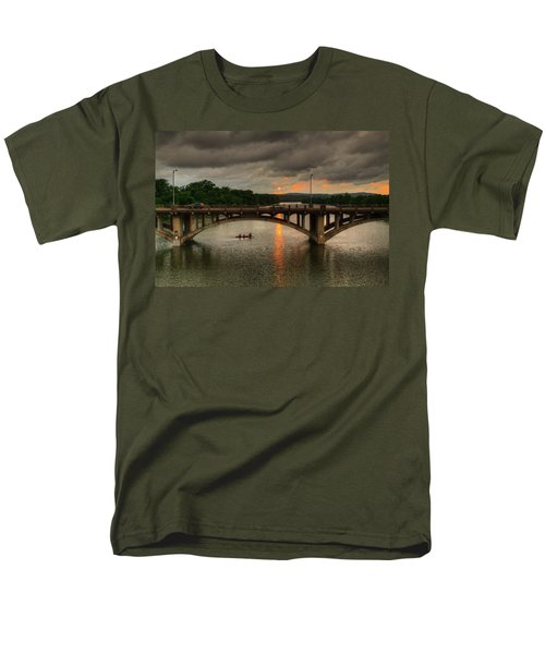 Sunset Fighting Through Men's T-Shirt  (Regular Fit) by Dave Files