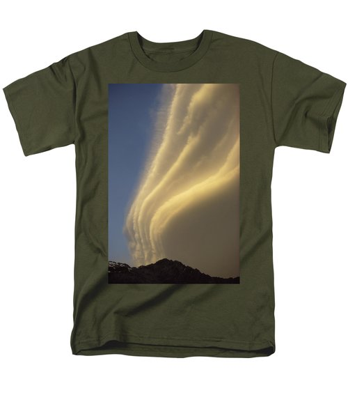 Sunset On Storm Clouds Near Mt Cook Men's T-Shirt  (Regular Fit) by Ian Whitehouse