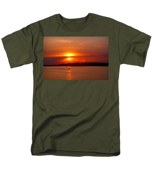 Sunset Over Lake Ozark Men's T-Shirt  (Regular Fit) by Cricket Hackmann