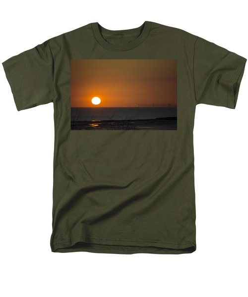 Sunset Over The Windfarm Men's T-Shirt  (Regular Fit) by Spikey Mouse Photography