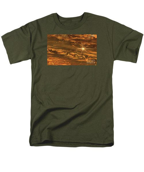Men's T-Shirt  (Regular Fit) featuring the photograph Swirling Autumn Leaves by Geraldine DeBoer