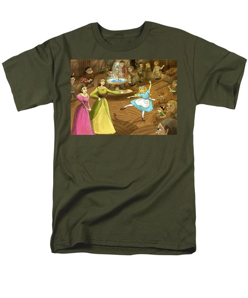 Men's T-Shirt  (Regular Fit) featuring the painting Tammy In The Town Square by Reynold Jay